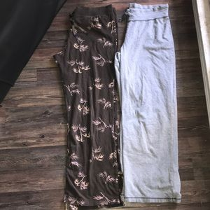 2 wide leg lounge pants
